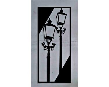 Obraz z metalu - Latarnie